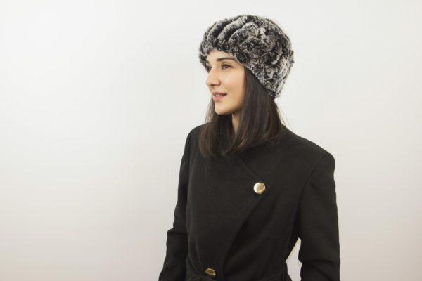 Brown 100/% Rex Rabbit Fur Headband